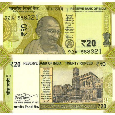 Intia 2019 20 Rupees P110a UNC