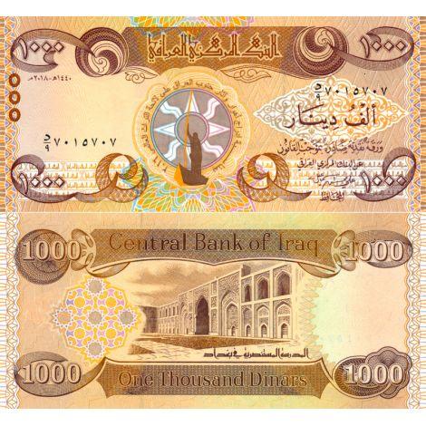 Irak 2018 1000 Dinars P104 UNC