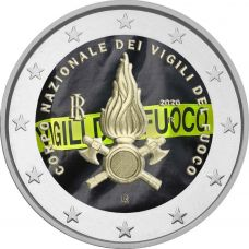 Italia 2020 2 € Kansallinen palokunta VÄRITETTY
