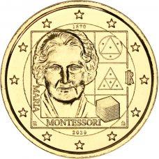 Italia 2020 2 € Maria Montessori KULLATTU