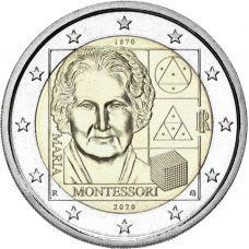 Italia 2020 2 € Maria Montessori UNC