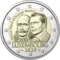 "Luxemburg 2020 2 € Henry of the Netherlands ""silta"" UNC"