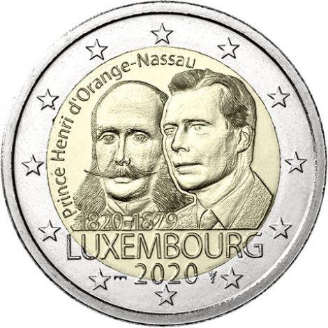 "Luxemburg 2020 2 € Henry of the Netherlands ""silta"" UNC"