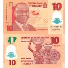 Nigeria 2019 10 Naira P39j UNC