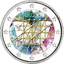 Suomi 2020 2 € Turun yliopisto 100 vuotta #2 VÄRITETTY