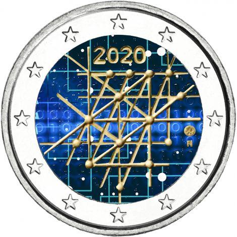 Suomi 2020 2 € Turun yliopisto 100 vuotta VÄRITETTY