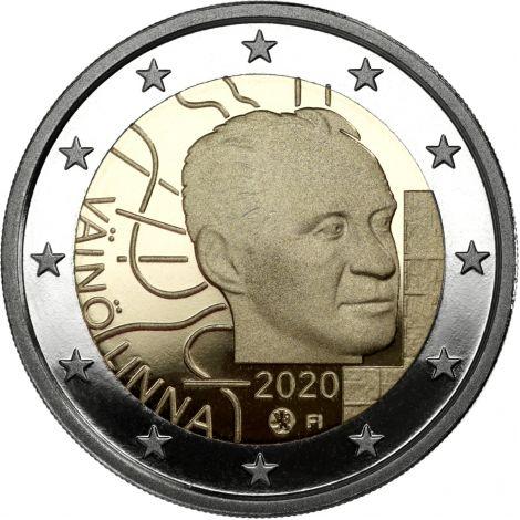 Suomi 2020 2 € Väinö Linna 100 vuotta PROOF