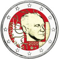 Suomi 2020 2 € Väinö Linna 100 vuotta VÄRITETTY