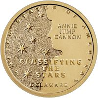 """USA 2019 $1 Delaware - Annie Jump Cannon """"P"""" UNC"""
