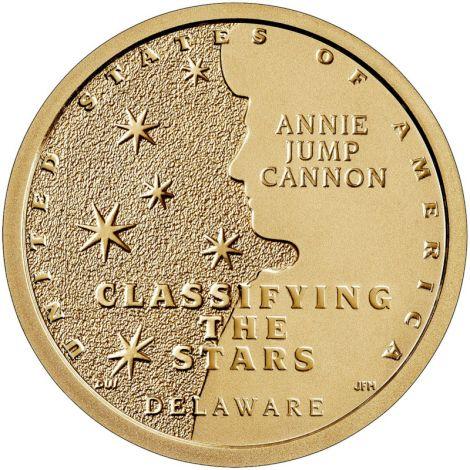 "USA 2019 $1 Delaware - Annie Jump Cannon ""D"" UNC"
