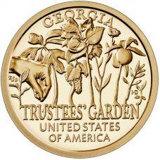"""USA 2019 $1 Georgia - Trustees Garden """"D"""" UNC"""