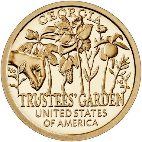 "USA 2019 $1 Georgia - Trustees Garden ""P"" UNC"
