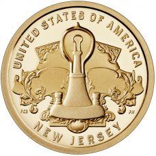 """USA 2019 $1 New Jersey - Lightbulb """"D"""" UNC"""