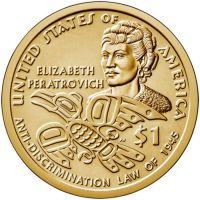 """USA 2020 $1 Sacagawea Native American """"P"""" UNC"""
