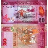 Sri Lanka 2010 20 Rupees P123 UNC