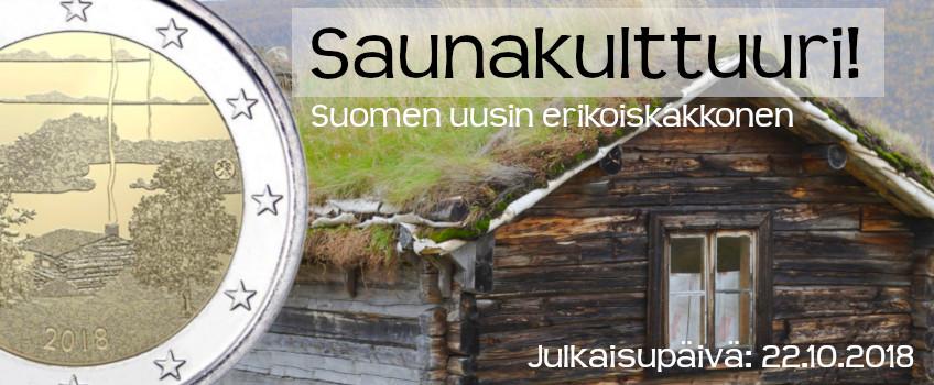 Suomi 2018 2 € Suomalainen saunakulttuuri