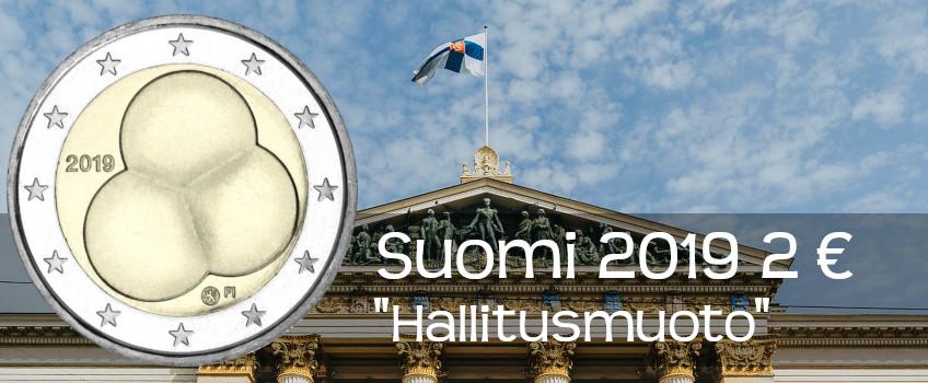 Suomi 2019 2 € Hallitusmuoto