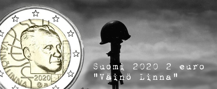 Suomi 2020 2 € Väinö Linna 100 vuotta UNC