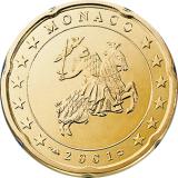 Monaco 2001 20 c UNC