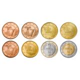 Kypros 2008 1 c – 2 € Irtokolikot UNC