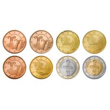 Kypros 2008 1 c - 2 € Irtokolikot UNC