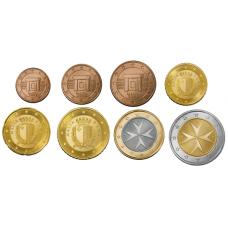 Malta 1 c – 2 € Sekavuosi Irtokolikot UNC