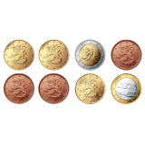 Suomi 1999 1 c – 2 € Irtokolikot UNC