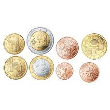 Itävalta 2008 1 c – 2 € Irtokolikot UNC