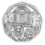 Itävalta 2002 5 € Wienin eläintarha UNC HOPEA