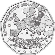 Itävalta 2004 5 € EU-laajentuminen UNC