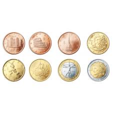 Italia 2008 1 c – 2 € Irtokolikot UNC