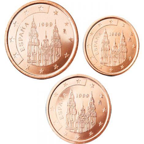 Espanja 2006 1 c, 2 c, 5 c Irtokolikot UNC