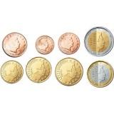 Luxemburg 2003 1 c – 2 € Irtokolikot UNC