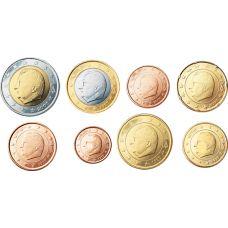 Belgia 1 c – 2 € Sekavuosi Irtokolikot UNC