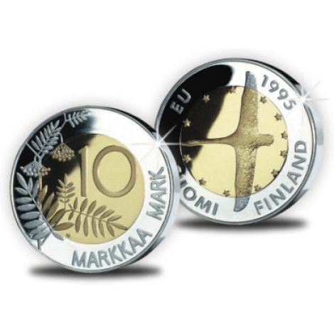 Suomi 1995 10 Markkaa EU Joutsen UNC