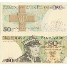 Puola 1988 50 Zlotych P142c UNC