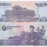 Pohjois-Korea 1998 5 Won P40a UNC