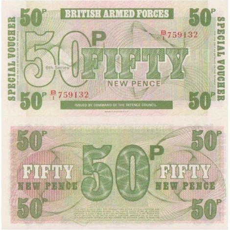 Englanti 1972 50 New Pence UNC
