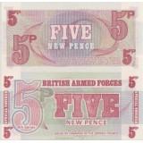 Englanti 1972 5 New Pence UNC