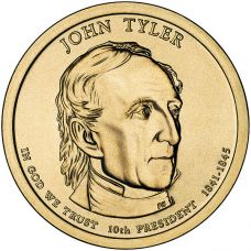 "USA 2009 $1 Presidentti John Tyler ""D"" UNC"
