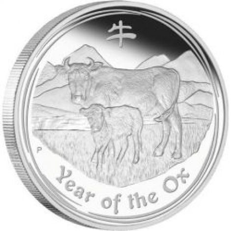 Australia 2009 1 Dollar Year of the ox 1 Unssi 999 HOPEA