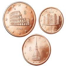 Italia 2007 1 c, 2 c, 5 c Irtokolikot UNC