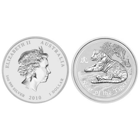 Australia 2010 1 Dollar Year of the tiger 1 Unssi 999 HOPEA