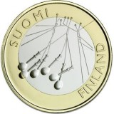 Suomi 2010 5 € Satakunta maakuntaraha UNC