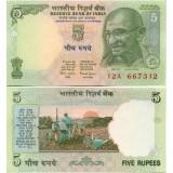 Intia 2002 5 Rupees UNC