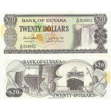 Guyana 2009/2010 20 Dollars P30 UNC