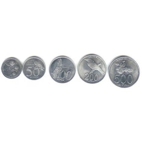 Indonesia 1996-2003 25-500 Rupiah UNC