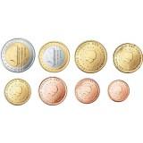 Alankomaat 2010 1 c – 2 € Irtokolikot UNC