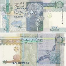 Seychellit 1998 10 Rupees UNC