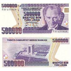 Turkki 1993 500 000 Lira UNC